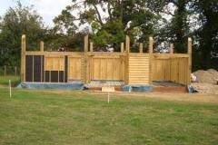 Oak frame erection