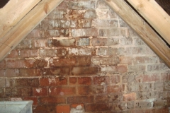 Penetrating damp to  existing chimney
