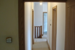 View of hallway work completed
